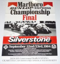 "Silverstone ACU Finals motorcycle race Poster 1984 30 x 20"" ( 770 x 510mm)"